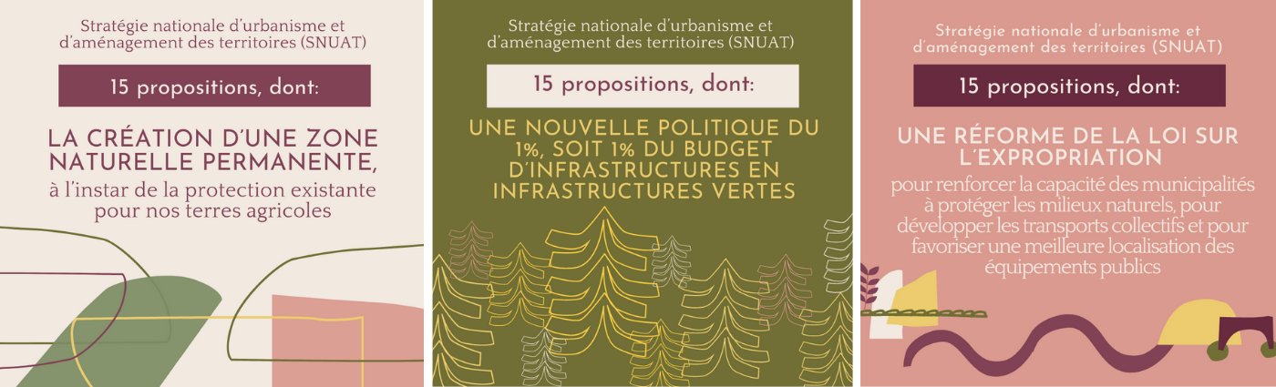 15 propositions pour les consultations sur la SNUAT